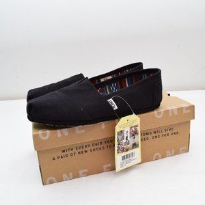 Toms 7.5 Classic Slip On Shoes New Black Womens Ca